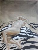 Male Nude on Stripes