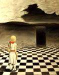 Girl Contemplating a Monolith as Composed by Apollodorus