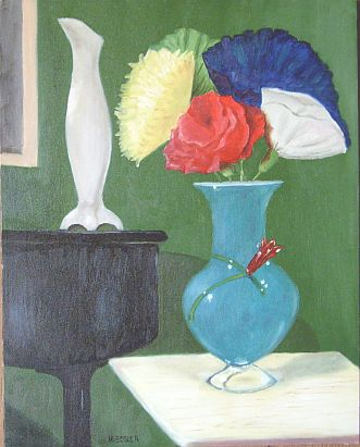 Vase With Paper Flowers