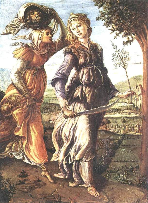 Fig. 6. Alessandro Botticelli. Judith's Return to Bethulia. c.1469-1470. Galleria degli Uffizi, Florence, Italy