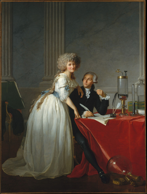 Antoine Laurent Lavoisier and His Wife by Jacque-Louis David 1788