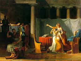 The Lictors Bringing to Brutus the Bodies of his Sons, Oil on Canvas, David 1789