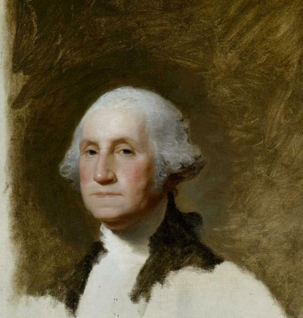 Unfinished Portrait of George Washington, Gilbert Stuart