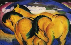 The Little Yellow Horses by Franz Marc