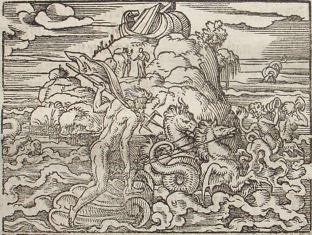 Poseidon calling back the waters.