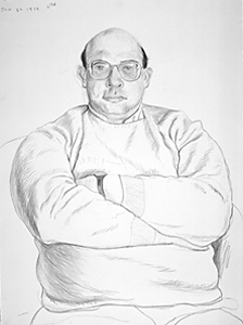 Jeff Burkhart, Crayon, David Hockney 1994