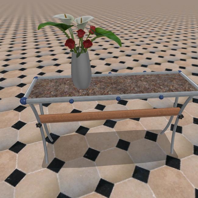 Two tables howard bosler artist for Long side table