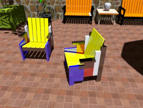 De Stijl Colored Chair