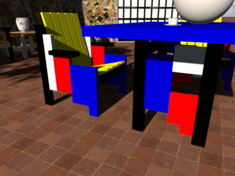 Chair with Table