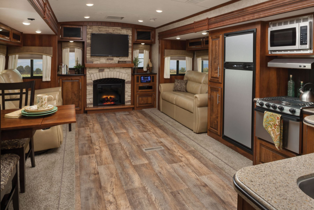Travel Trailer Interior.