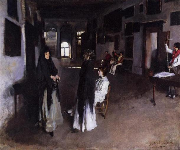 A Venetian Interior, Oil on Canvas, 1880-82.