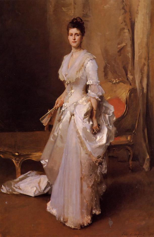 Mrs. Henry White, Oil on Canvas, 1883.