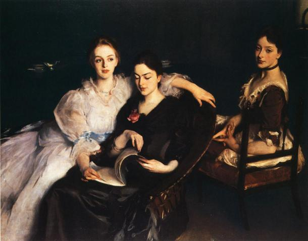 The Misses Vickers, Oil on Canvas, 1884.