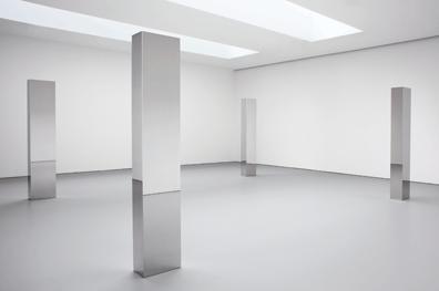 Star, Infinite, Dimension, and Electron, Steel, John McCracken, 2010.