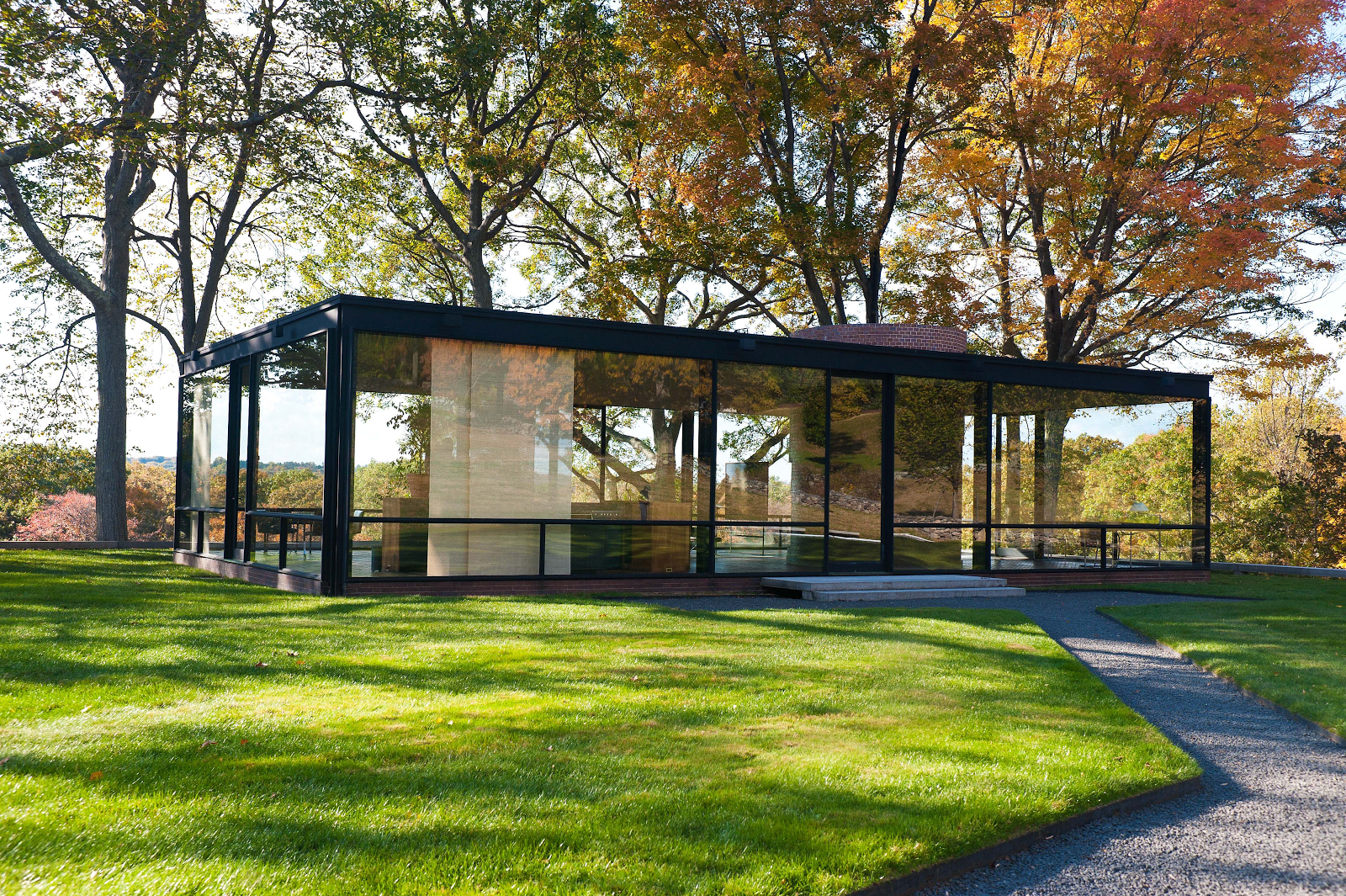 The Glass House, Philip Johnson, New Canaan, Connecticut, 1949.