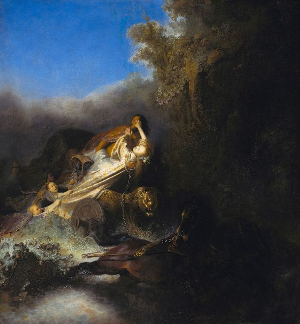 The Abduction of Proserpina, Oil on Canvas, Rembrandt, 1631.