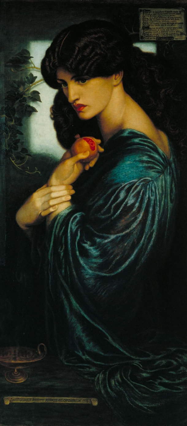 Proserpine, Oil on Canvas, Dante Gabriel Rossetti, 1874.