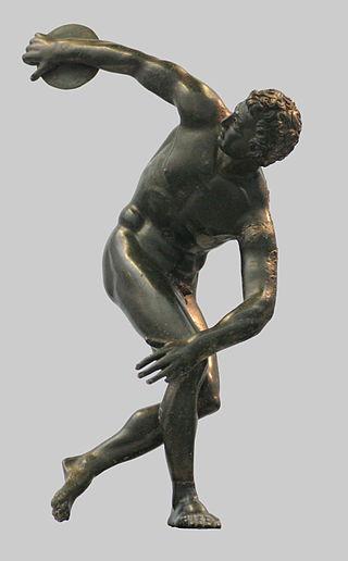 Roman bronze reduction of Myron's Discobolus, 2nd century AD.