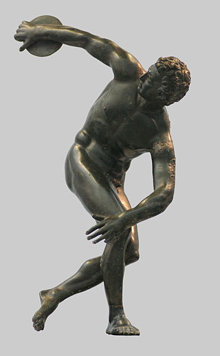 Roman bronze reduction of Myron's Discobolus, 2nd century AD.