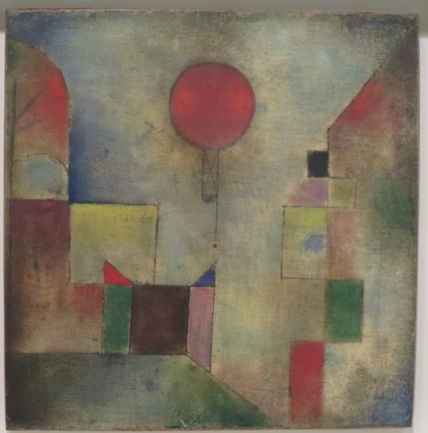 The Red Balloon, Oil on Muslin Primed With Chalk, Paul Klee, 1922.