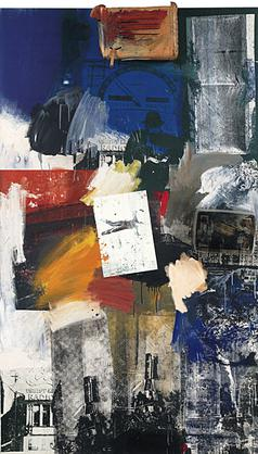 Untitled, Oil on Canvas, Robert Rauschenberg, 1963.