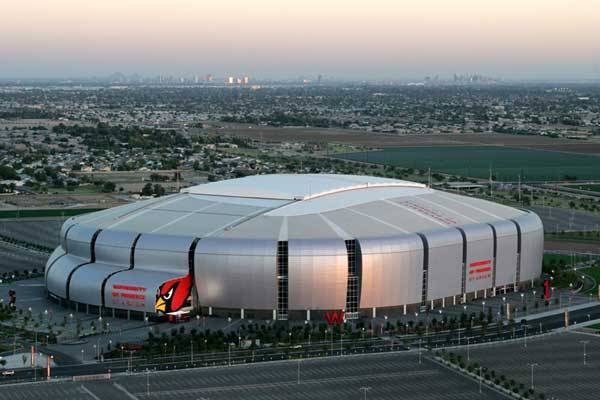 The University of Phoenix Stadium, Phoenix, Arizona. Cost = 527 million dollars.
