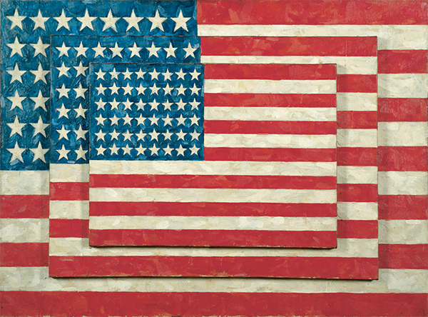 Three Flags by Jasper Johns, 1958, Whitney Museum of American Art, New York