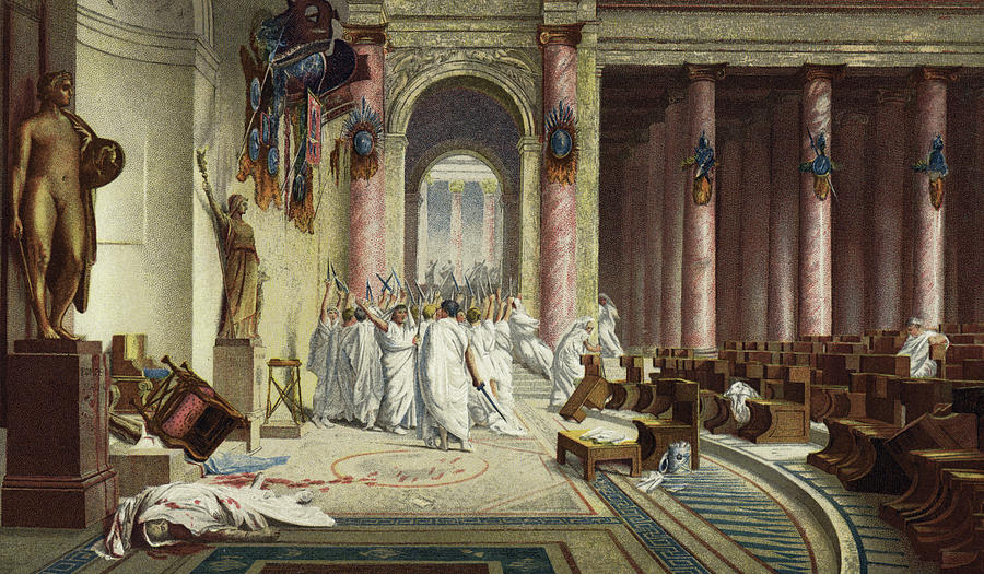 Consider Gerome's The Death of Caesar and Vinchon's Boissy d'Anglas