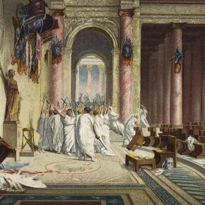 Consider Gerome's The Death of Caesar and Vinchon's Boissyd'Anglas
