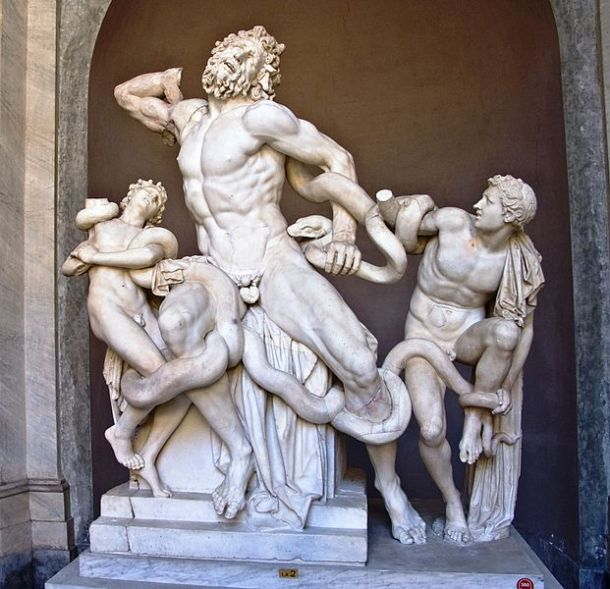 Laocoon and His Sons, Marble, Vatican Museums, Agesander of Rhodes, Polydorus of Rhodes, Athenodoros of Rhodes, Ancient Roman Copy of Hellenistic Sculpture, Excavated in Rome in 1506.