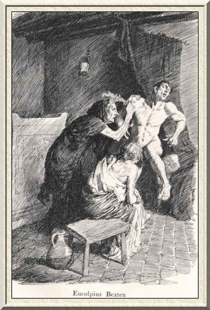 Illustration From The Satyricon by Norman Lindsay for the Liveright Publication, 1922.
