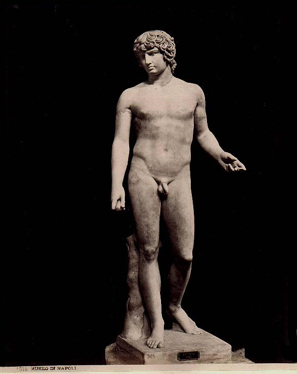 Sculpture of Antinous in the Farnese Collection, A re-elaboration of 2nd Century Copy of a Greek Original.
