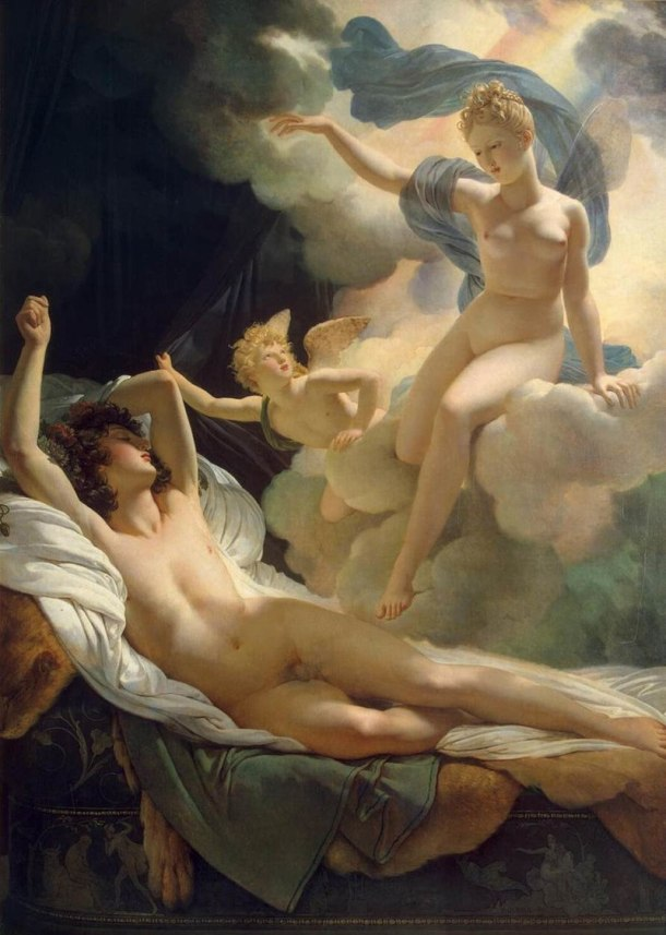 Morpheus and Iris, Oil on Canvas, Pierre Narcisse Guerin, 1811.