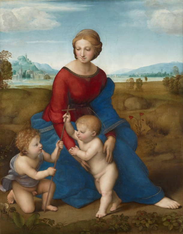 Madonna of the Meadow, Oil on Panel, Raphael, 1506.