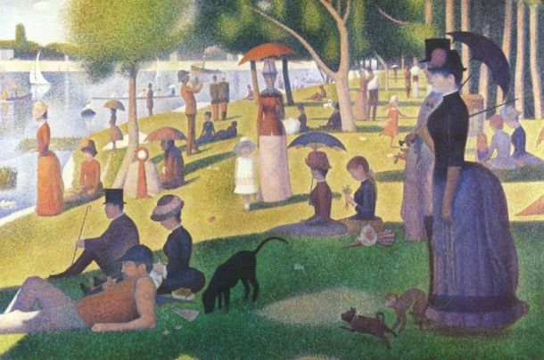 A Sunday Afternoon on the Island of La Grande Jatte, Oil on Canvas, Art Institute of Chicago, Georges Seurat,