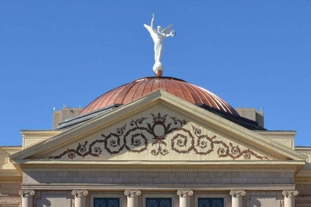 Solid Copper Dome of the State Capitol. Arizona is Known For Its Large Copper Deposits.