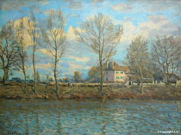 L'Ile de la Grande Jatte, Oil on Canvas, Musee d'Orsay, Alfred Sisley, 1873.
