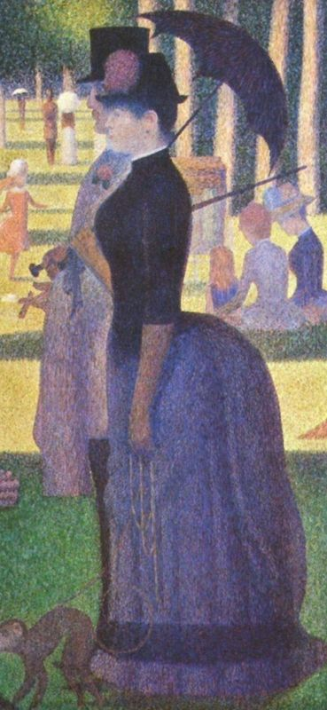 A Sunday Afternoon on the Island of Grande Jatte. (Detail)