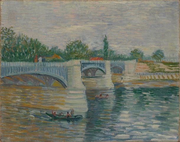 La Seine et le Pont de la Grande Jatte, Oil on Canvas, Van Gogh Museum, Vincent van Gogh, 1887.