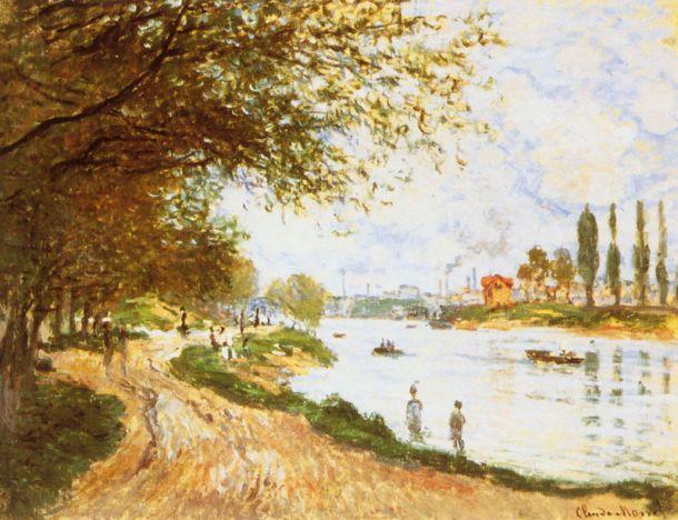 Springtime on La Grande Jatte, Oil on Canvas, National Gallery, Norway, Claude Monet, 1878.