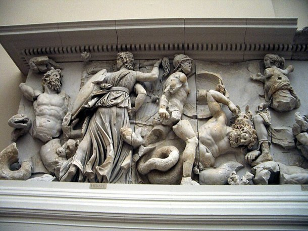 Detail of a Relief from the Pergamon Altar.