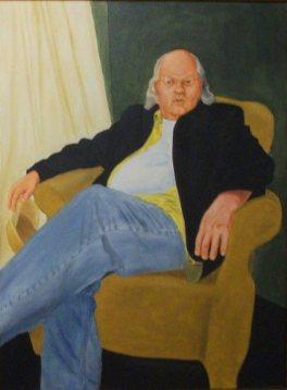 Self-Portrait, Oil on Canvas.
