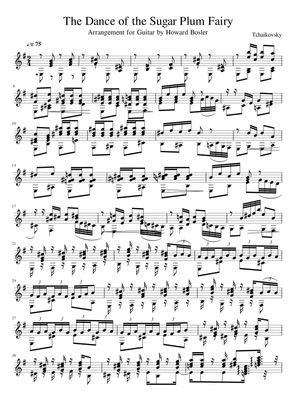 First Page of The Dance of the Sugar Plum Fairy.