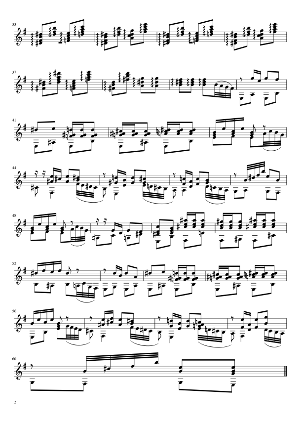 Second Page of The Dance of the Sugar Plum Fairy.