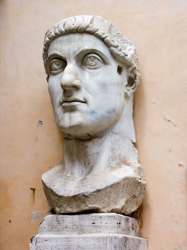 Head of Statute or Constantine the Great, Musée du Capitole, Rome.