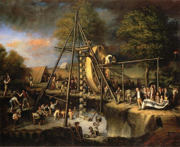 The Exhumation of the Mastodon, Oil on Canvas, Charles Wilson Peale, 1806.
