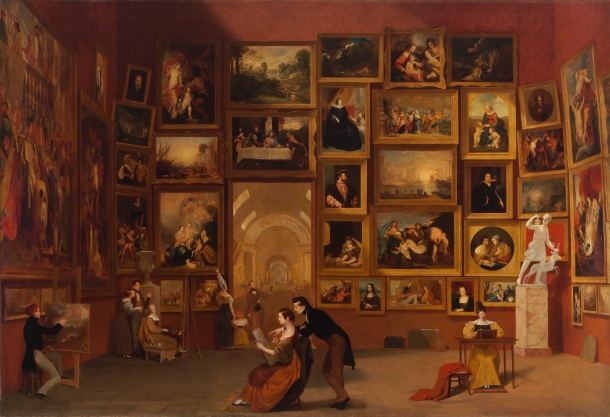Gallery of the Louvre, Oil on Canvas, Samuel FB Morse, 1833.