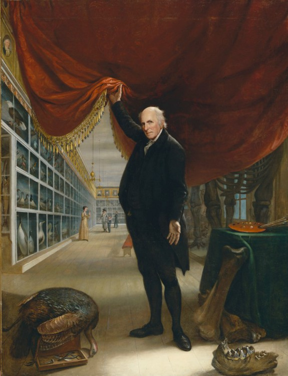The Artist in His Museum, Oil on Canvas, Pennsylvania Academy of Fine Arts, Charles Wilson Peale, 1822.