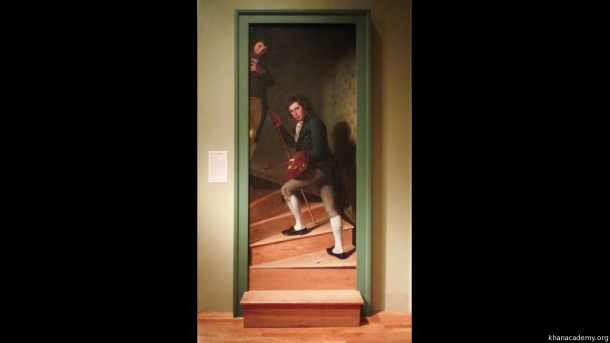 The Staircase Group, Oil on Canvas, Philadelphia Museum of Art, Charles Wilson Peale, 1795.