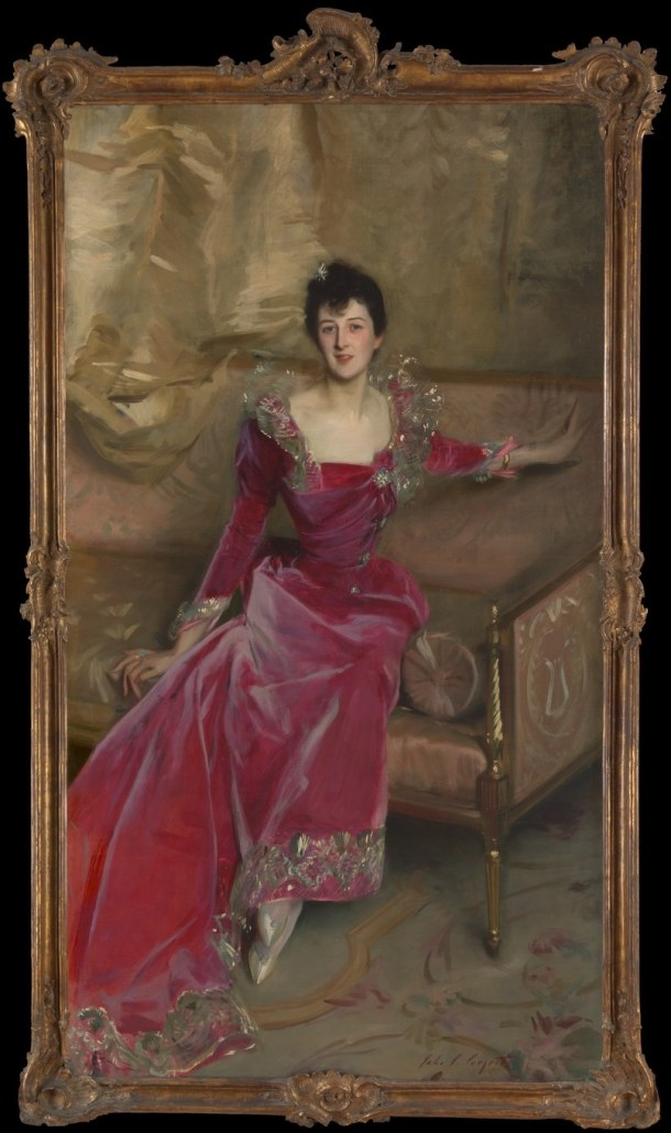 John Singer Sargent, Mrs. Hugh Hammersley, 1892. The Metropolitan Museum of Art, New York, Gift of Mr. and Mrs. Douglass Campbell, in memory of Mrs. Richard E. Danielson, 1998 (1998.365)